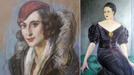 Иван Табаков, Дамски портрет и портрет на Елисавета Багряна
