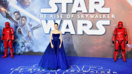 Британската актриса Дейзи Ридли на европейската премиера на