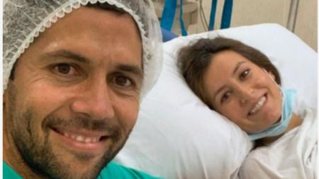 Щастливите родители Фернандо и Ана.
