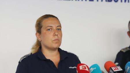 """Красимира Стоядинова от """"Охранителна полиция"""" даде брифинг в сградата на СДВР."""