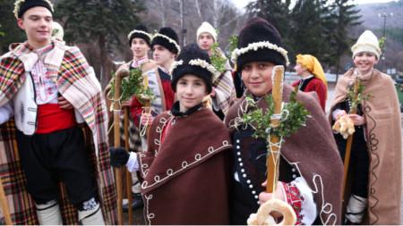 A group of carol singers (koledari)