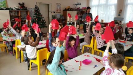 Деца в 19-а целодневна детска градина в София