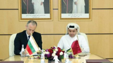 Споразумението бе подписано при посещението на министър Красимир Вълчев в Катар