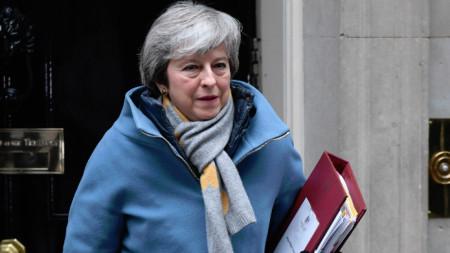 Британският премиер Тереза Мей.
