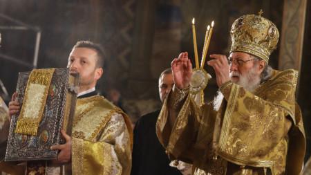 Негово светейшество българският патриарх и Софийски митрополит Неофит оглави тържествената Света литургия за Рождество Христово.