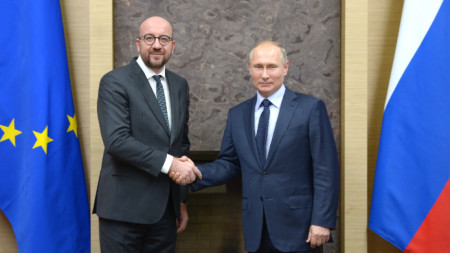 Шарл Мишел и Владимир Путин