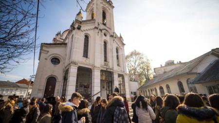 """Катедралният храм """"Св. св. Кирил и Методий"""" в Струмица, където са мощите на митрополит Герасим Струмишки."""
