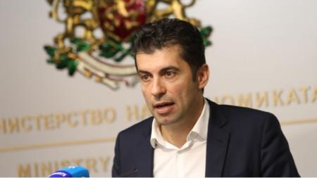 Minister of Economy Kiril Petkov