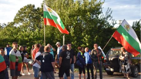 Protesta afër fshatit Krushare