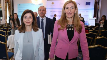 Нейно кралско височество Дана Фирас, принцеса на Йордания и министърът на туризма Николина Ангелкова