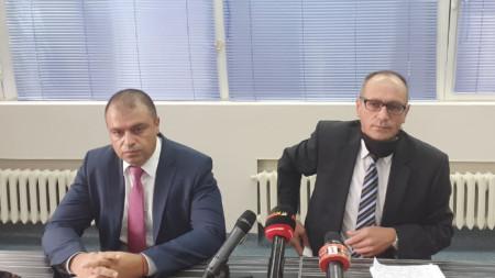 Директорът на пловдивската полиция Йордан Рогачев и апелативния прокурор Тодор Деянов