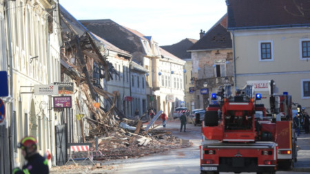 Разрушения в град Петриня, Хърватия след силното земетресение на 29.12.2020 г.
