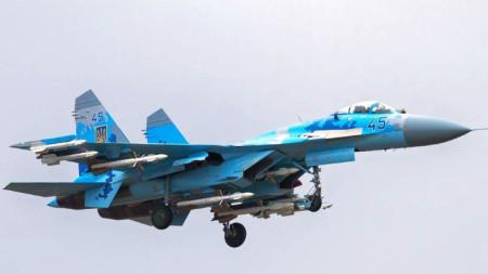 Су-27 от състава на украинските военно-въздушни сили.