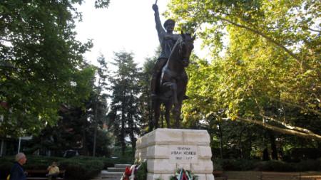 Паметникът на генерал Иван Колев в Добрич