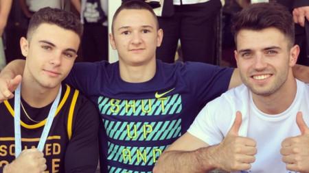 Дейвид Хъдълстоун, Мартин Мишев и Йордан Александров
