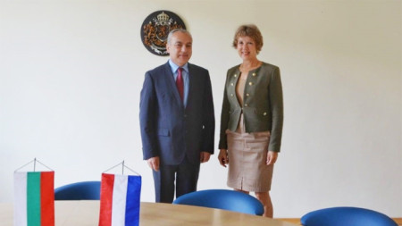 Minister Donev and H.E. Ambassador of the Netherlands Bea ten Tuscher.