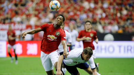 Антони Марсиал вкара три гола за Манчестър Юнайтед