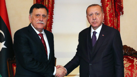 Файез ас Сарадж и Реджеп Ердоган