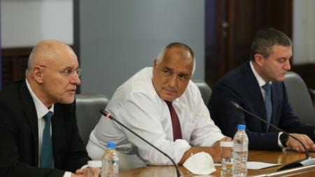 Димитър Радев, Бойко Борисов и Владислав Горанов