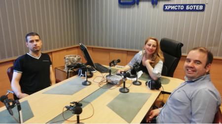 Руслан Зарев, Мария Мира Христова и Константин Занков (отляво надясно)