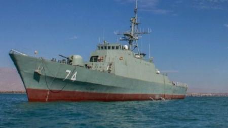 """Новият ирански боен кораб """"Саханд"""" е дълъг 96 метра."""