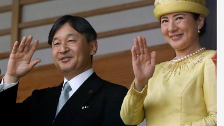 Новият император на Япония Нарухито и съпругата му Масако