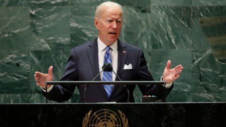 Реч на Джо Байдън при откриване на 76-ата сесия на Общото събрание на ООН