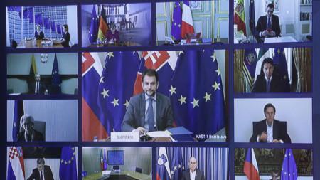Видеоконференция на лидерите на ЕС