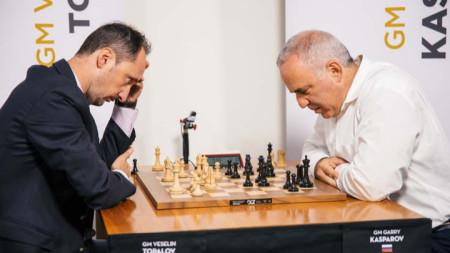 Веселин Топалов е 21-и в класацията, в която води Гари Каспаров.