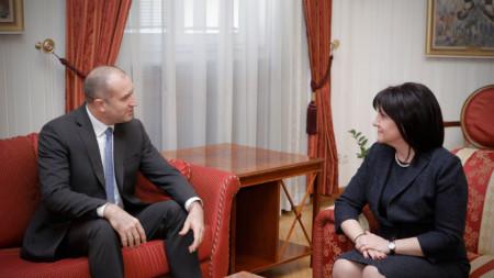 Президентът Румен Радев и председателката на Народното събрание Цвета Караянчева - архивна снимка