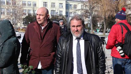 Актьорът Калин Сърменов (вляво) и министърът на културата Боил Банов