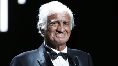 Жан-Пол Белмондо на наградите Сезар в Париж през февруари 2017 г.