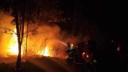 Точно преди година 30 огнеборци загинаха при друг пожар в същия район.