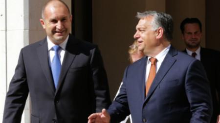 Румен Радев и Виктор Орбан