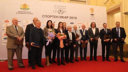Част от наградените на церемонията.