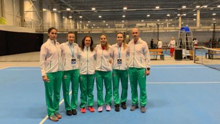 Отборът на България след победата.