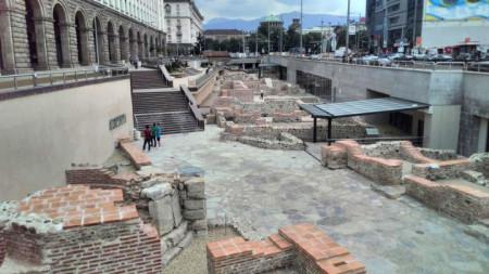 Има още исторически находки, които трябва да намерят експозиционна площ в центъра на София
