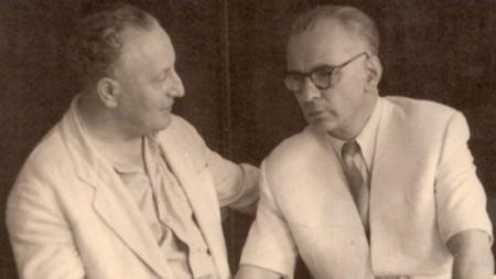 Саша Попов (вдясно) с Панчо Владигеров