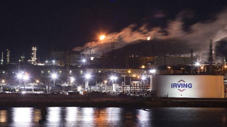 петролна рафинерия на Irving oil в Ню Брънзуик, Канада