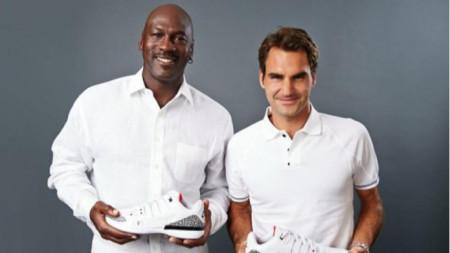 Майкъл Джордан и Роджър Федерер в кампания на Nike.