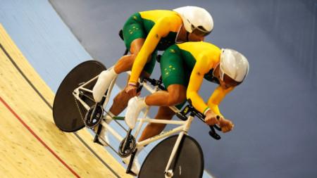 Кийрън Модра (отпред) имаше 5 титли от параолимпийски игри.