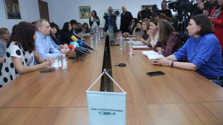 """Редколегията на програма """"Хоризонт"""" на БНР се срещна с членовете на Съвета за електронни медии."""