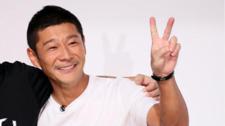 44-годишният японски милиардер Юсаку Маедзава.