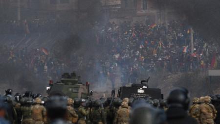 Напрежение в покрайнините на боливийския град Кочабамба.