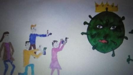 Една от рисунките, които участват в конкурса