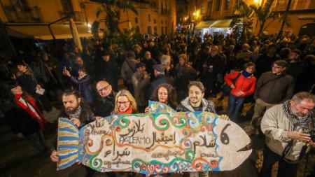 Протест на италианското движение