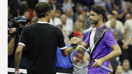 Григор Димитров постигна първата си победа от 8 мача срещу Роджър Федерер