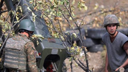 Кадри, разпространени от Министерството на отбраната на Армения