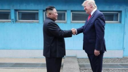 Среща на Ким Чен-ун и Доналд Тръмп на границата между Северна и Южнка Корея