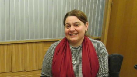Амелия Гешева, заместник-министър на културата, в студиото на